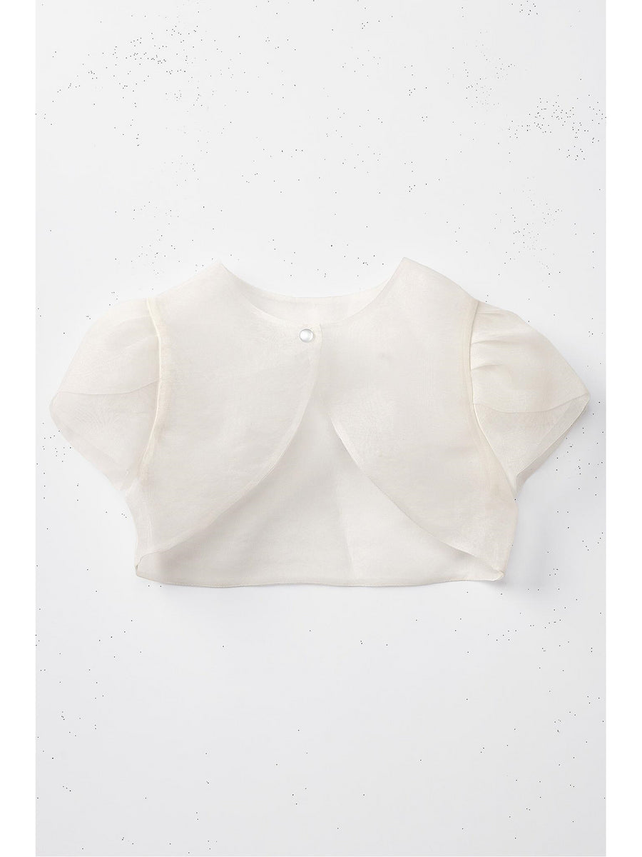 Girls Sheer Single-Button Shrug