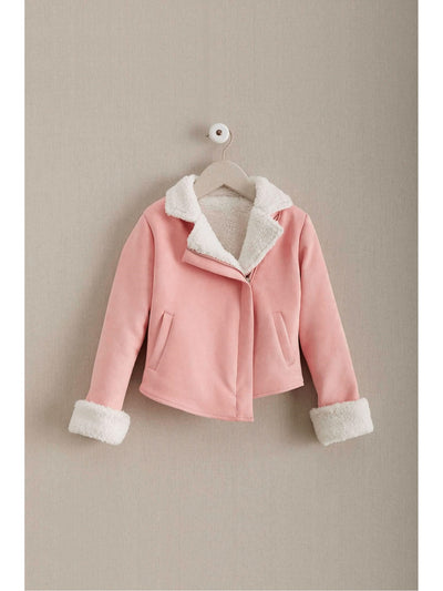 Girls Sherpa Moto Jacket