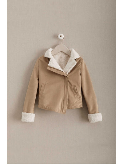 Girls Sherpa Moto Jacket  san 1