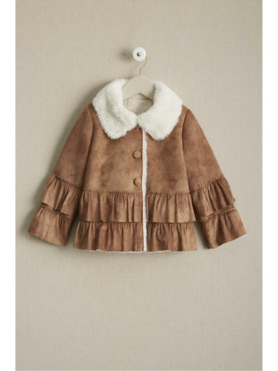 Girls Sherpa Ruffle Jacket