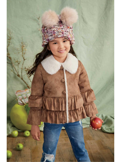 Girls Sherpa Ruffle Jacket  che alt1