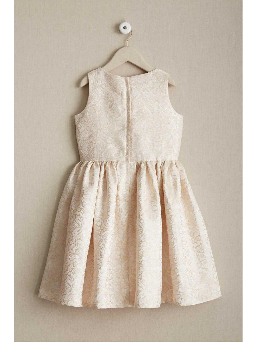 Girls Shimmer Brocade Dress