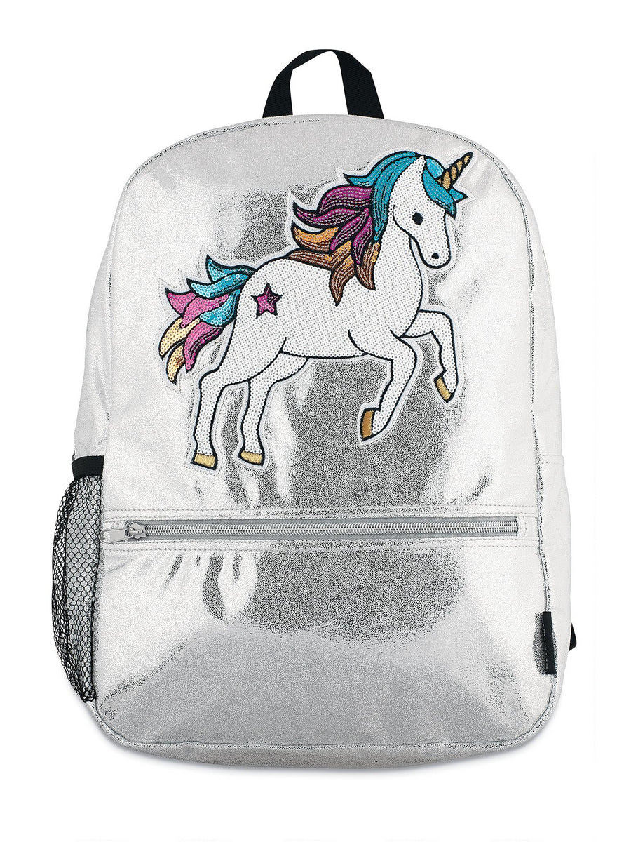 Girls Shimmer Sequin Unicorn Backpack