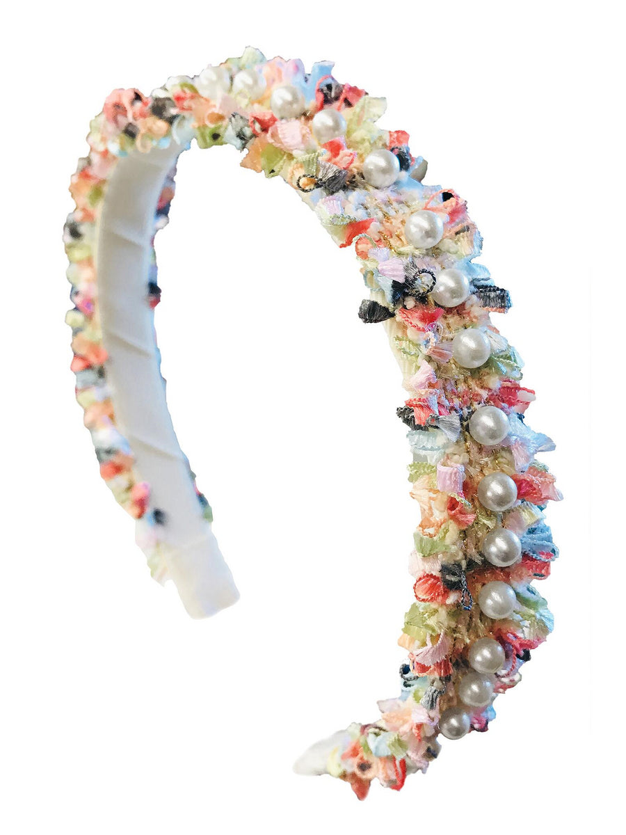 Girls Shimmering Pearls Headband