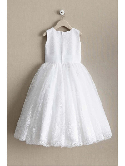 Girls Shimmery Sequin & Lace Dress  whi alt2