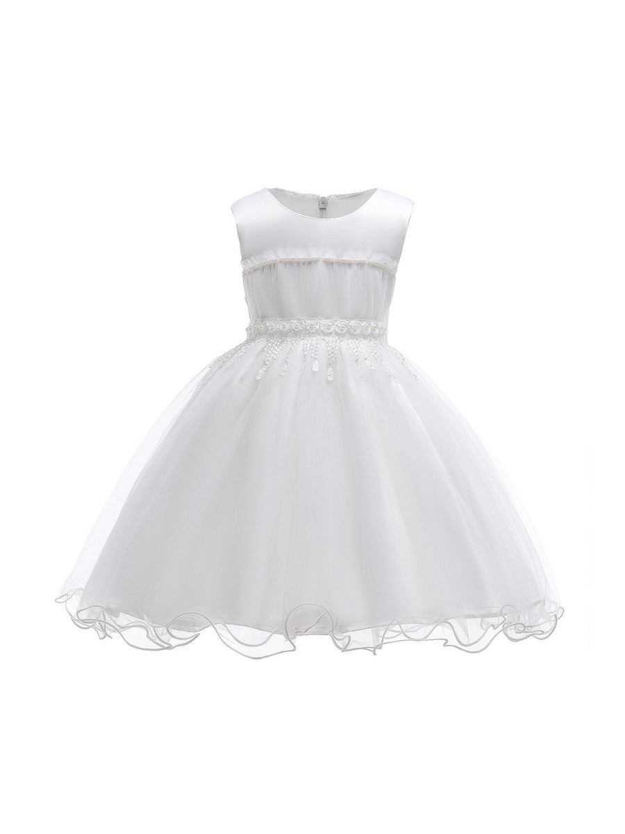 Girls Shirred-Bodice Dress