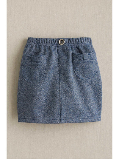 Girls Short Lurex Knit Skirt  blu 1