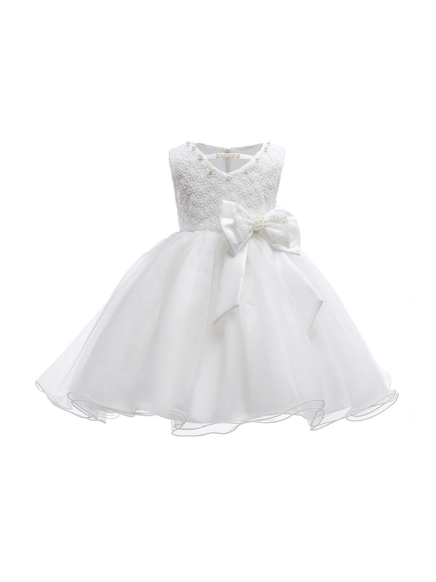 Girls Side Bow Dress