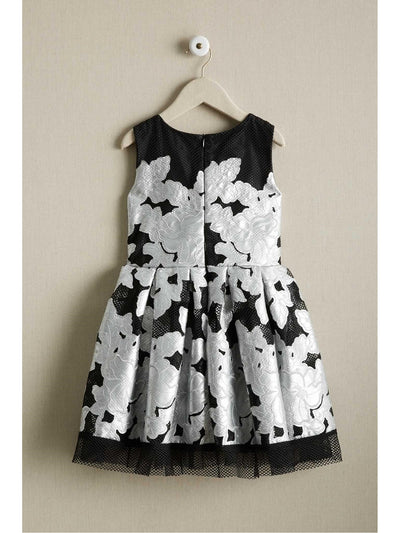 Girls Silver Applique Dress  sil alt2