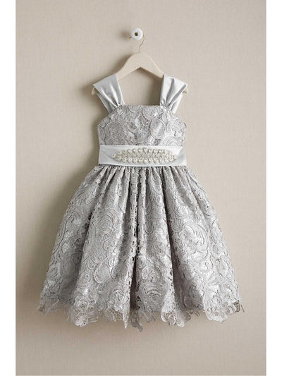Girls Silver Belle Dress  sil alt1