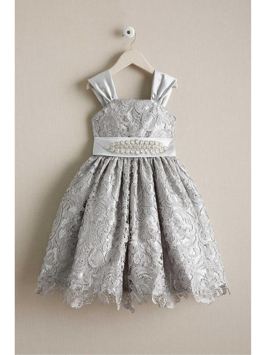 Girls Silver Belle Dress