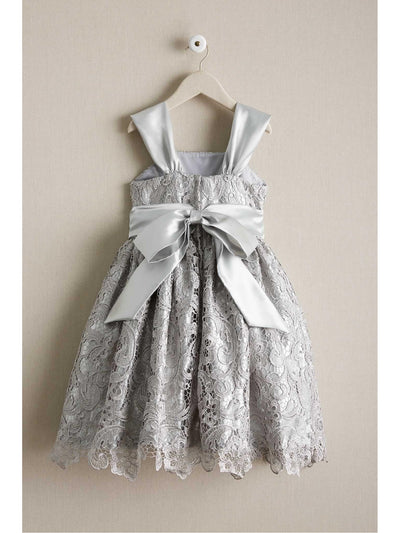 Girls Silver Belle Dress  sil alt2
