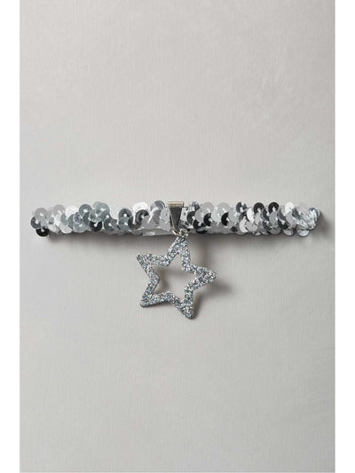 Girls Silver Glitter Star Necklace