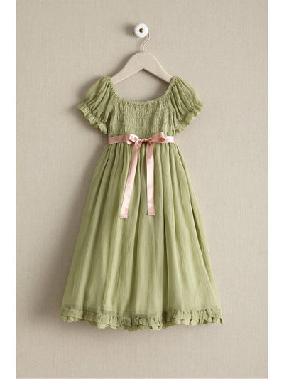Girls Smocked Romantic Dress  sag alt2