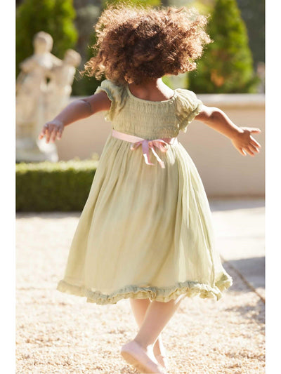 Girls Smocked Romantic Dress  sag alt3