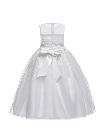 Girls Snowflake Dress  white alt2