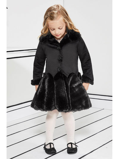 Girls Soft & Plush Skirt Coat