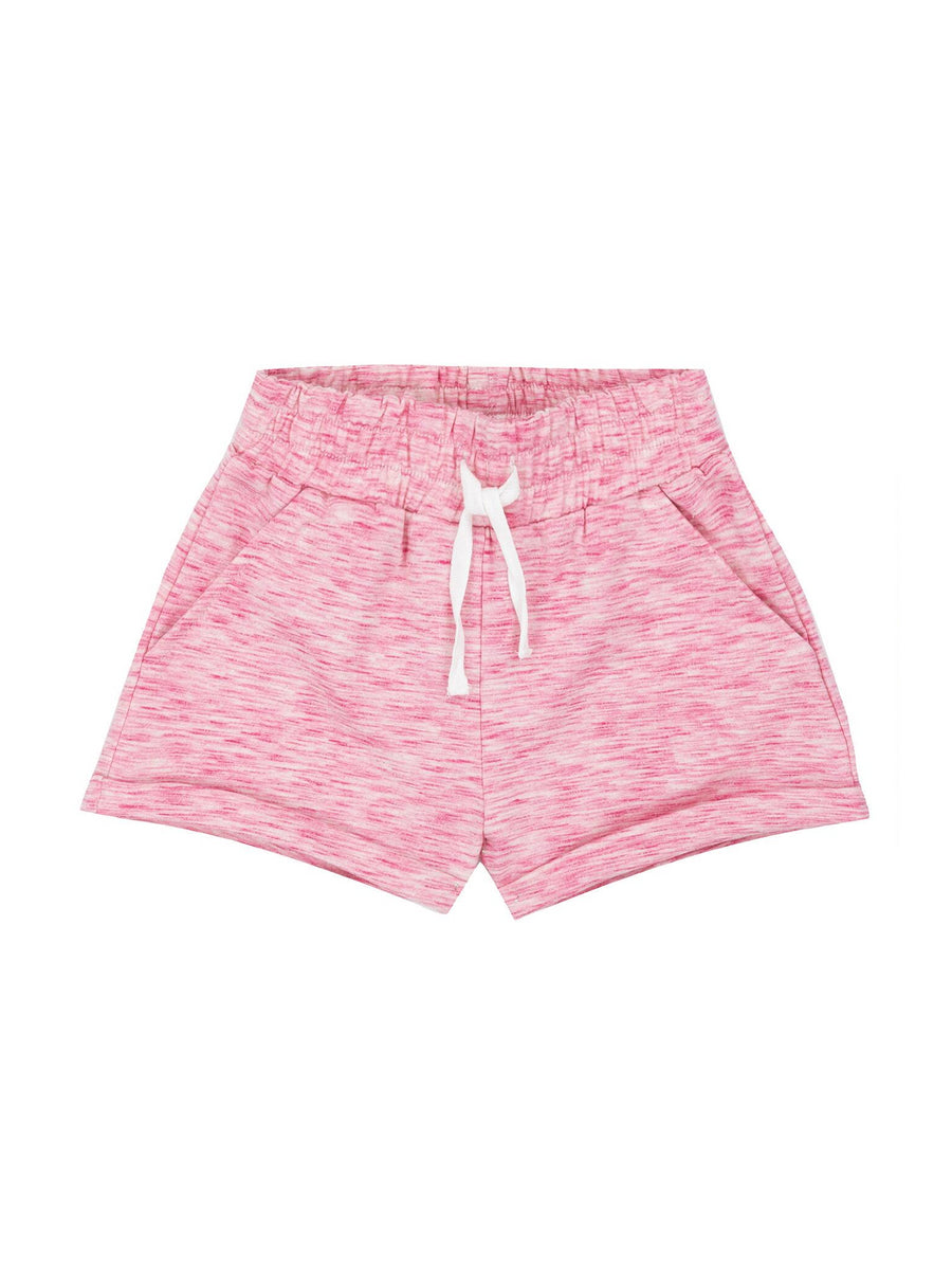Girls Space Dyed French Terry Shorts