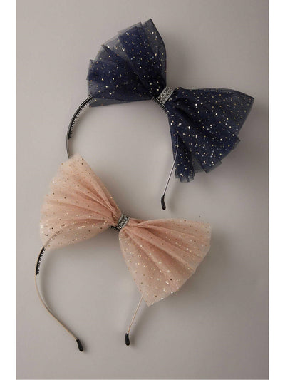 Girls Sparkle Bow Headband  bls alt1