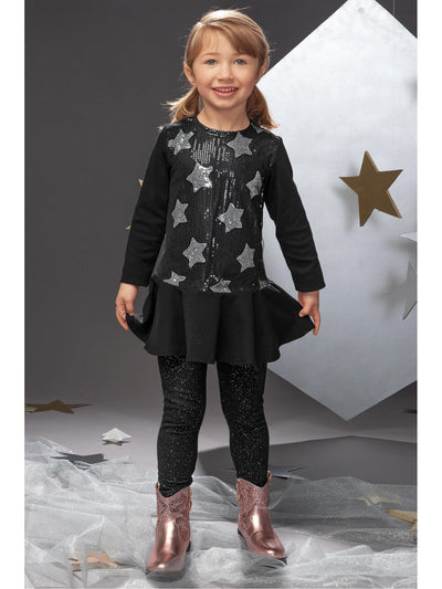 Girls Sparkle Leggings  bk alt1