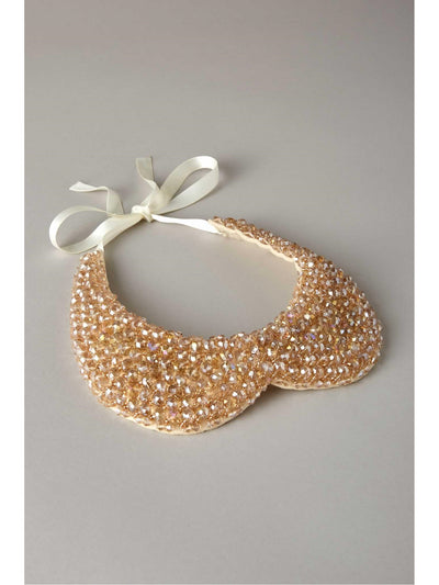 Girls Sparkling Beaded Collar  gol 1