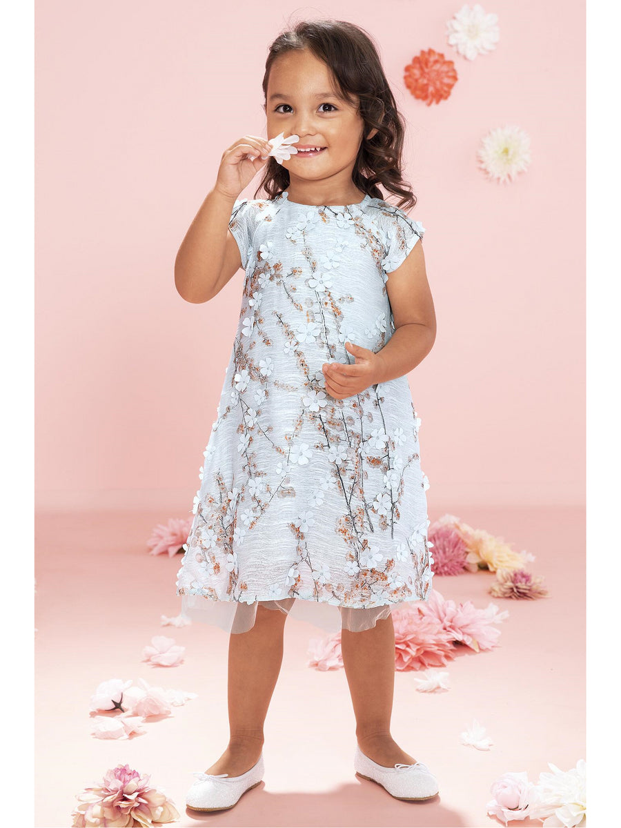 Girls Spring Branches in Bloom Dress