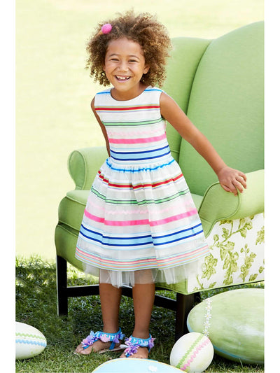 Girls Spring Ribbons Party Dress