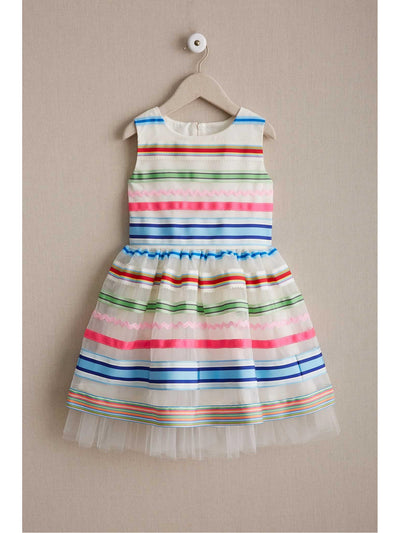Girls Spring Ribbons Party Dress  whi alt1