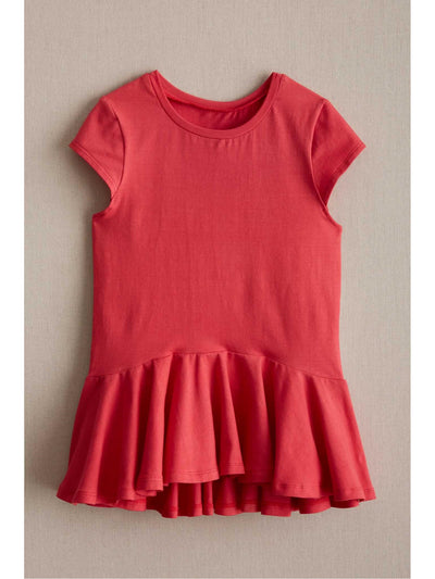 Girls Spring Ruffle Top  red 1