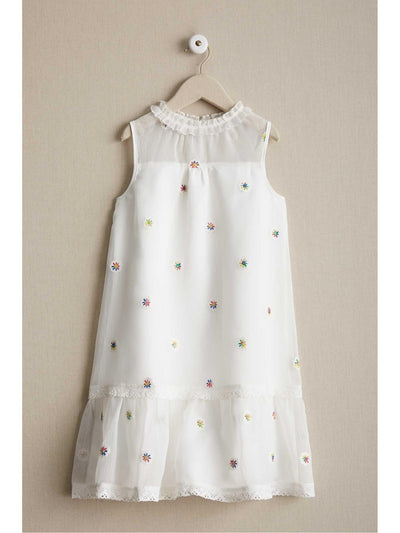 Girls Spring Swing Dress  whi alt1