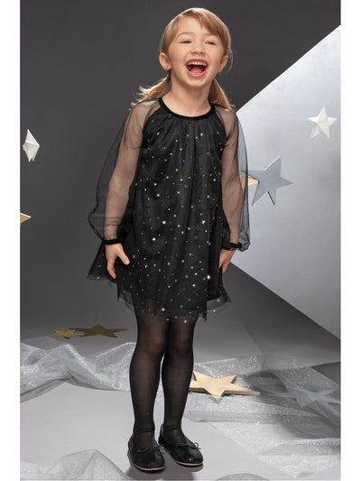 Girls Starry Night Tulle Dress  blk alt1