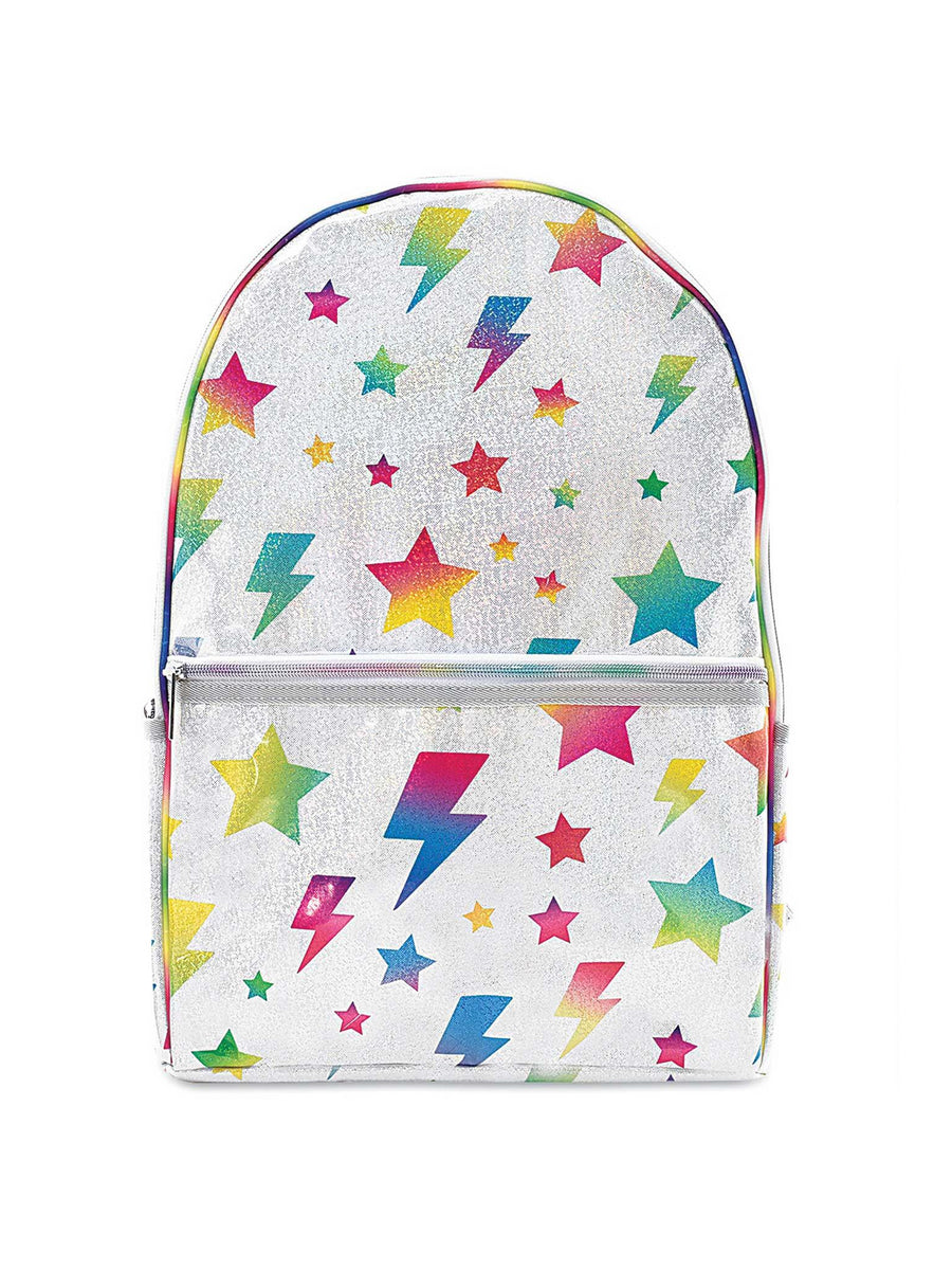 Girls Stars & Lightning Glitter Backpack