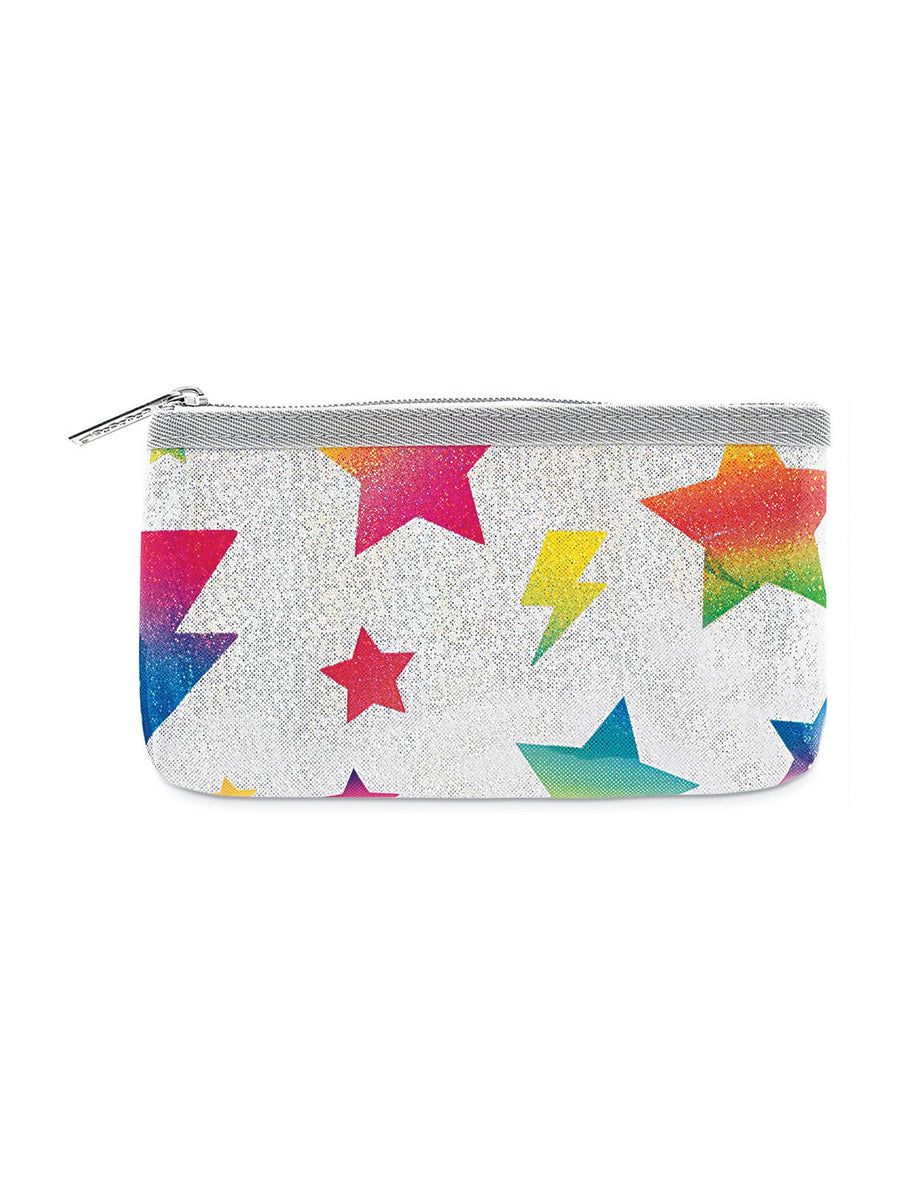 Girls Stars & Lightning Glitter Pencil Case