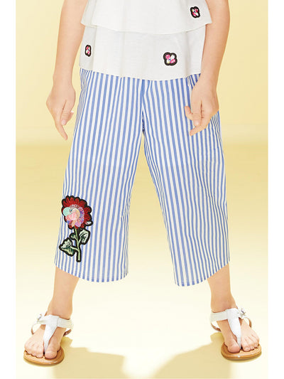 Girls Stripe Rose Culottes