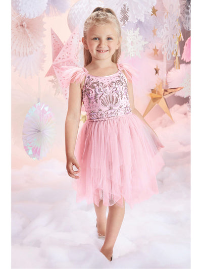 Girls Sugar Plum Fairy Sequined Tulle Dress