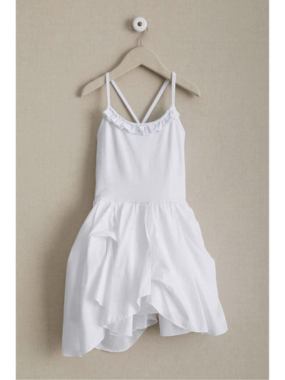 Girls Swan Dancer Dress  whi 1