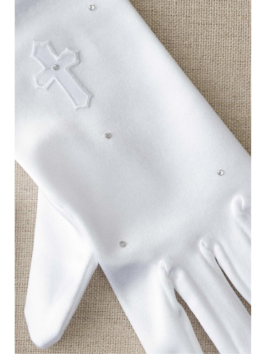 Girls Swarovski® Cross Gloves