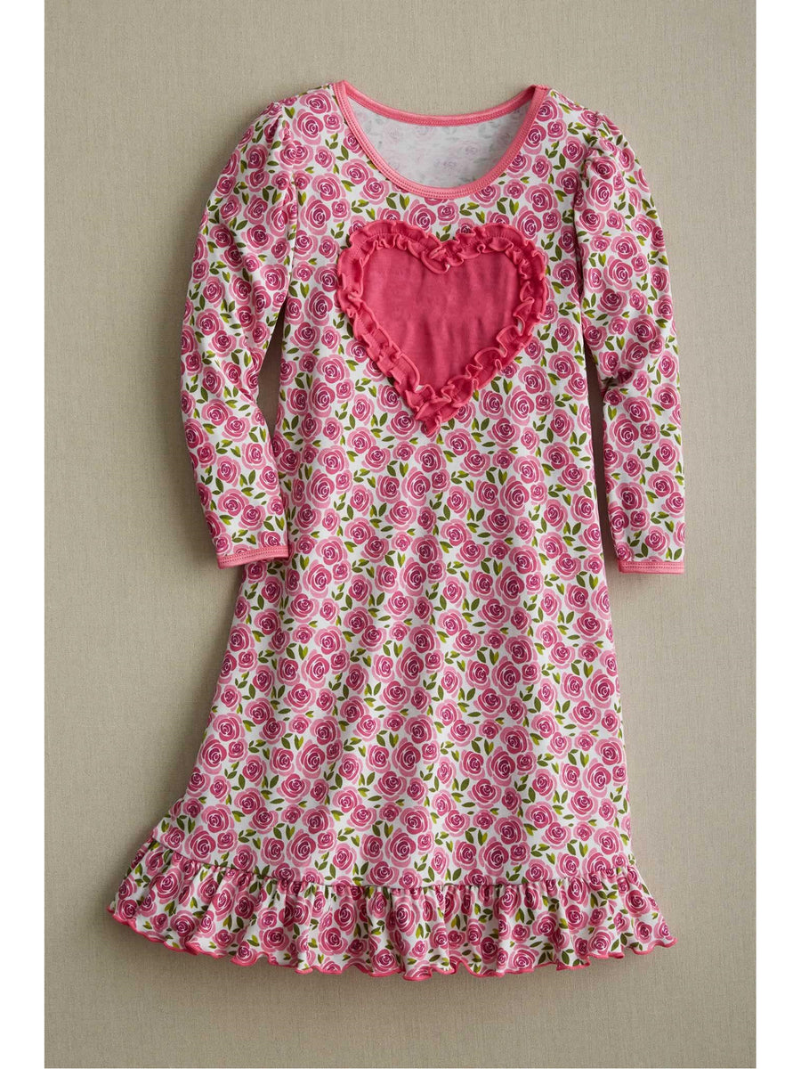 Girls Sweet Rose Nightgown