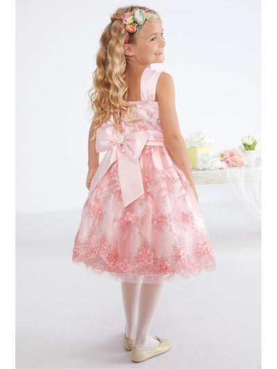 Girls Sweet Satin & Lace Dress  bls alt1