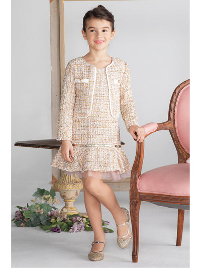 Girls Sweet Sophisticate Jacket & Dress  pink alt1