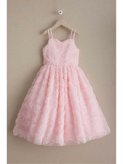 Girls Swirly Pink Roses Dress  lpi alt1