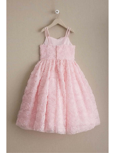 Girls Swirly Pink Roses Dress  lpi alt2