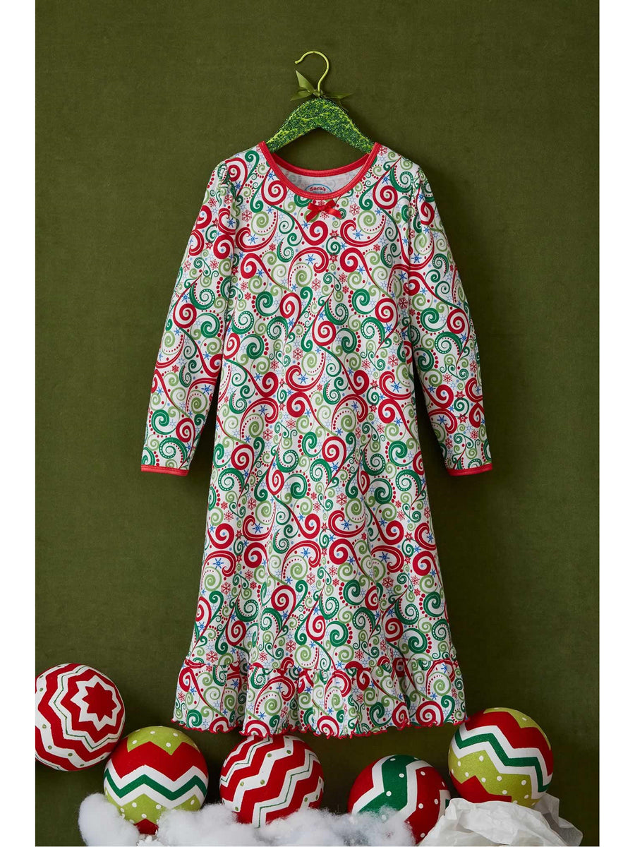 Girls Swirly Tree Nightgown