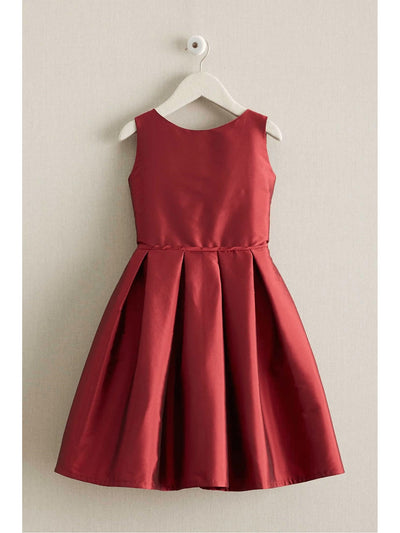 Girls Taffeta Party Dress  red 1