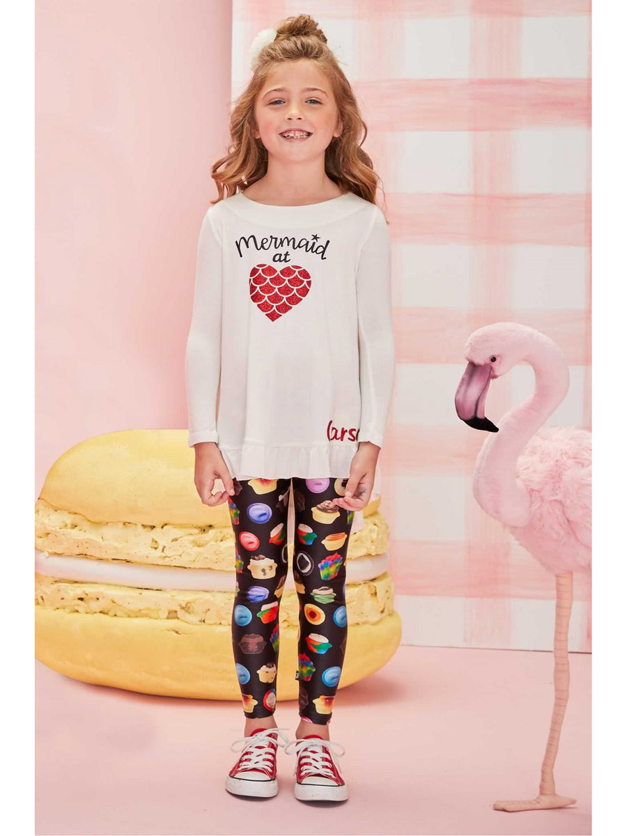 Girls Terez Baked by Melissa Leggings
