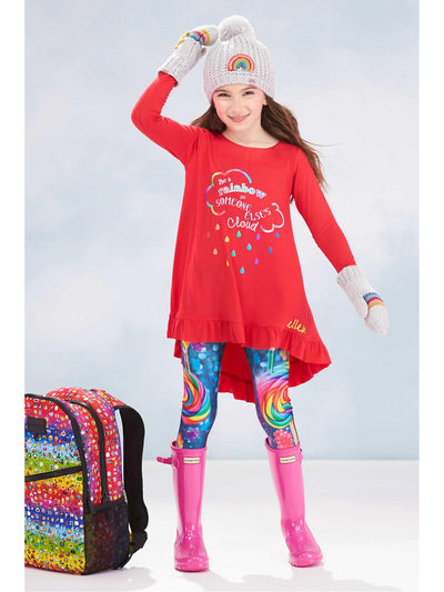 Girls Terez Dylan's Candy Bar™ Leggings  blu alt1