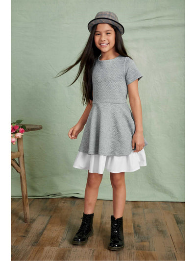Girls Textured Twirl Dress