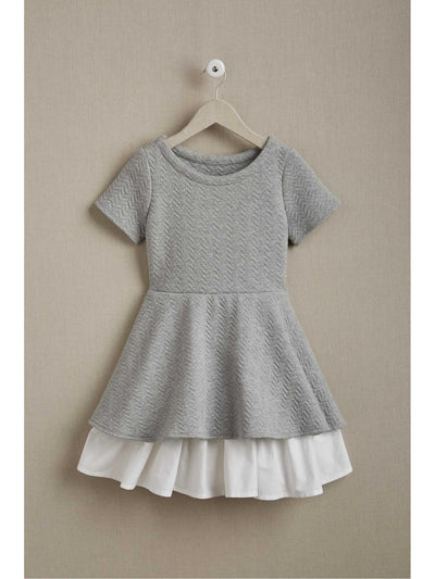Girls Textured Twirl Dress  hgr alt1
