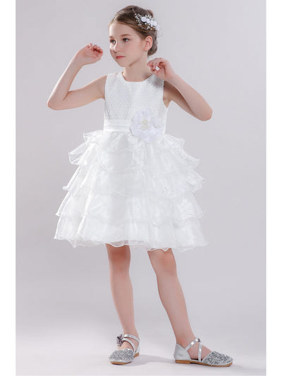 Girls Tiered Dress