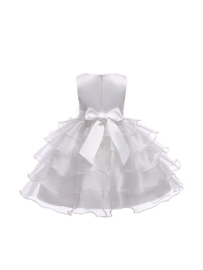 Girls Tiered Dress  white alt2